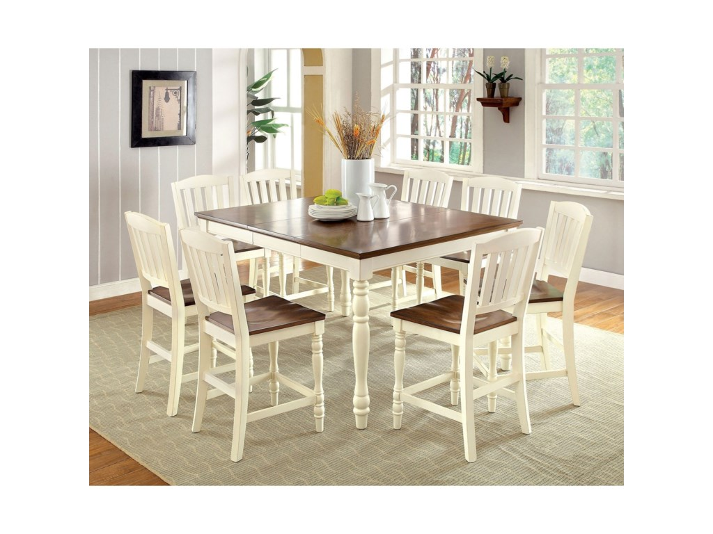 Harrisburg 9 Piece Counter Height Dining Set
