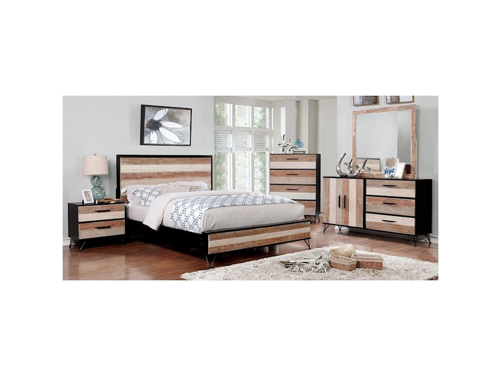 Furniture of America HasseltQueen Bedroom Group
