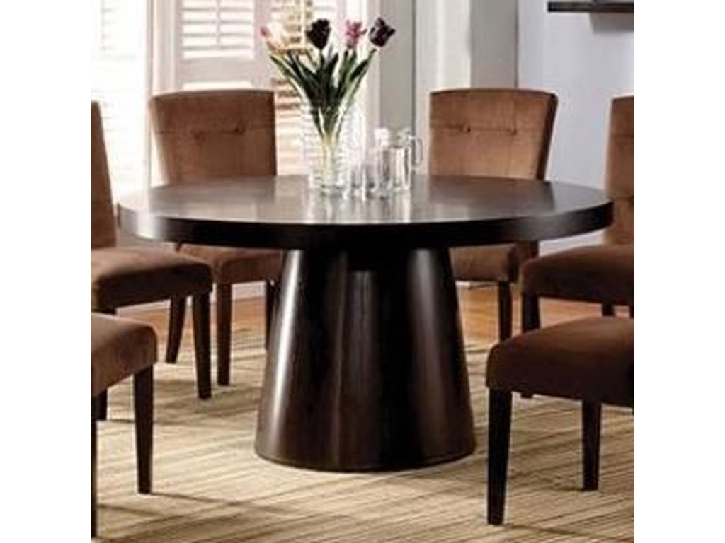 Havana Contemporary Round Dining Table with Pedestal Base by Furniture of  America at Rooms for Less