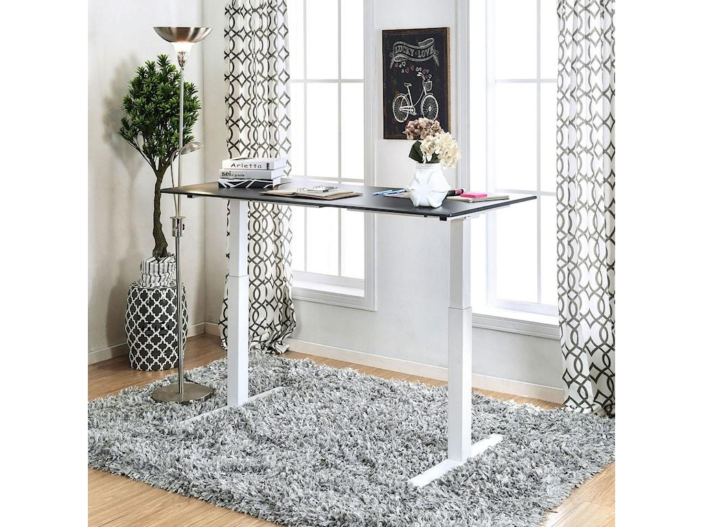 Furniture of America HedvigAdjustable Ht. Desk - Large