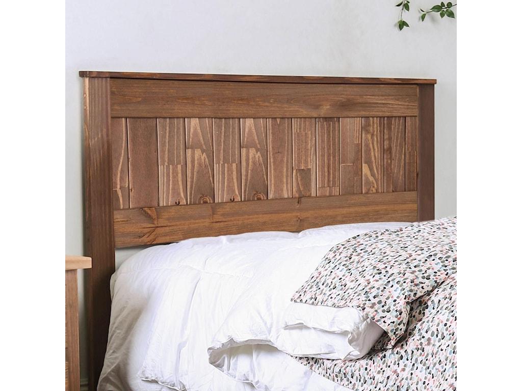 Ila Full Size Rustic Plank Headboard Household Furniture