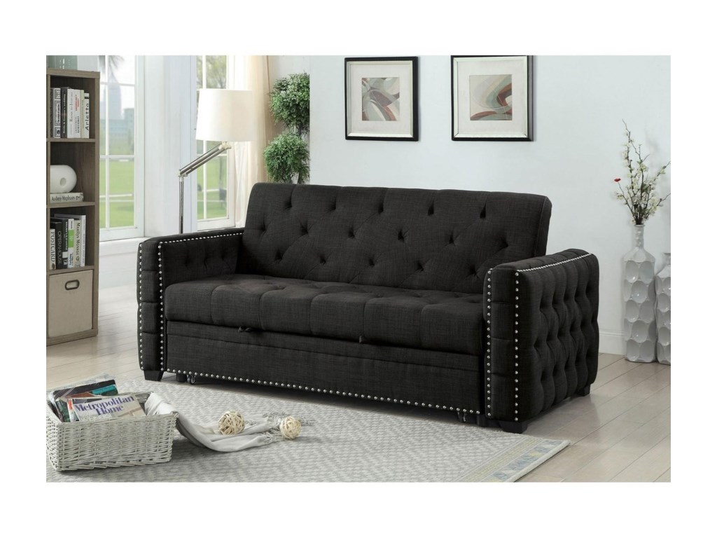 Furniture of America Iona CM2604-PK Futon Sofa | Corner Furniture ...