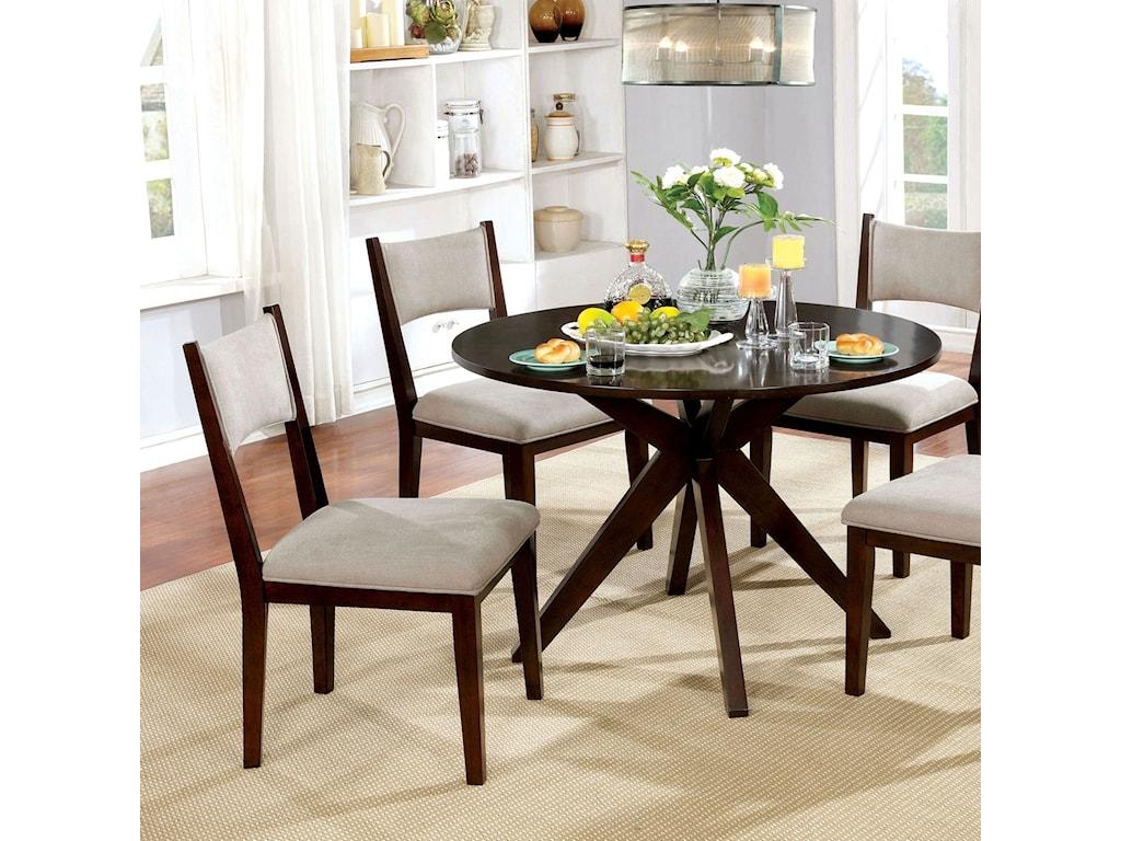 America Kaidence CM3273RT Mid Century Modern Round Dining ...