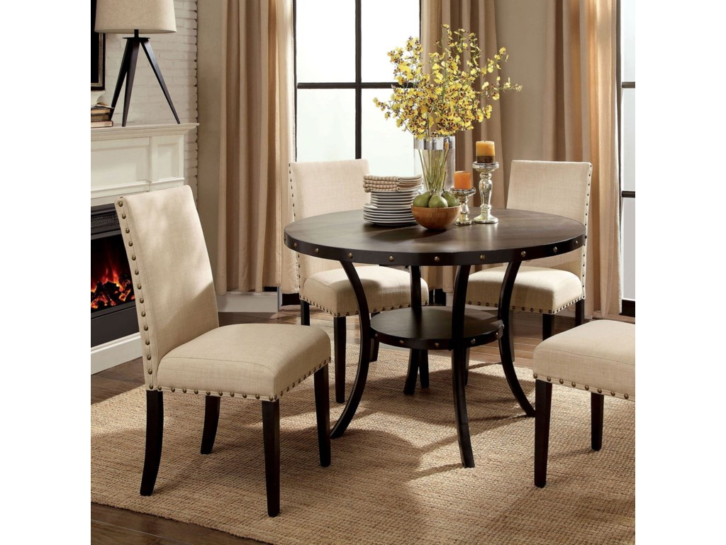 Furniture Of America Kaitlinround Dining Table