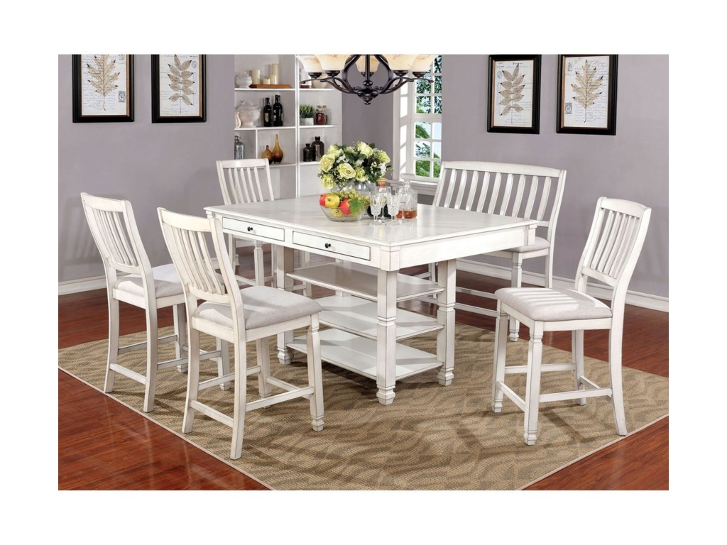 Furniture Of America Kaliyah Cm3194pt 6pc Six Piece Cottage Style