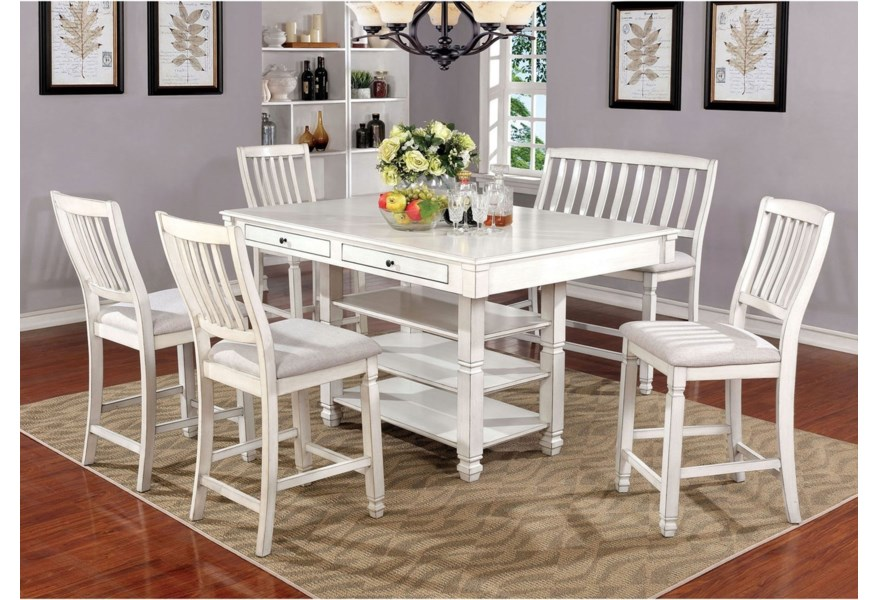 Kaliyah 6 Pc Pub Dining Set