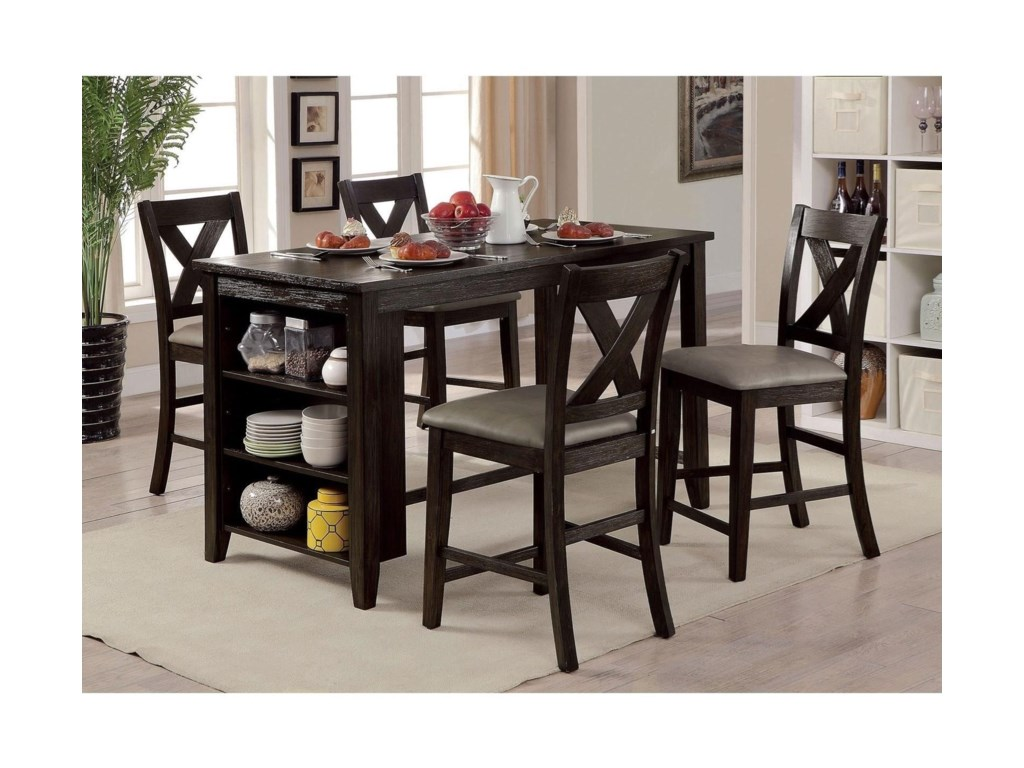 Furniture of America LanaSet of 2 Counter Height Chairs