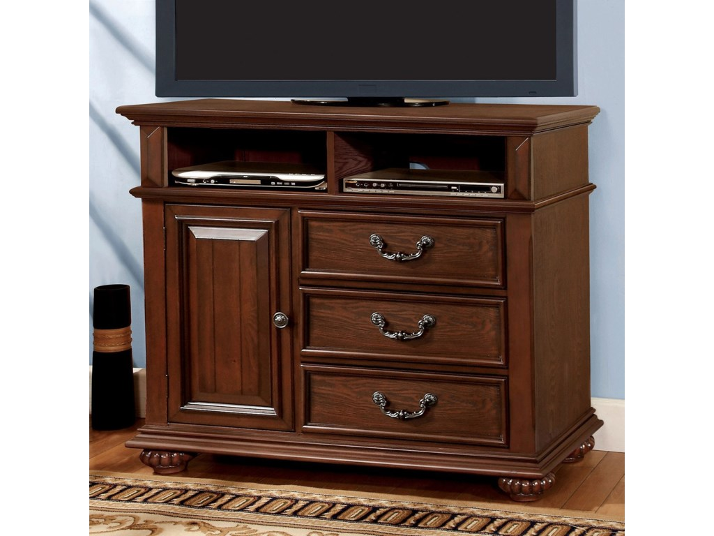 Landaluce Traditional 3 Drawer Bedroom Media Chest With 2 Open