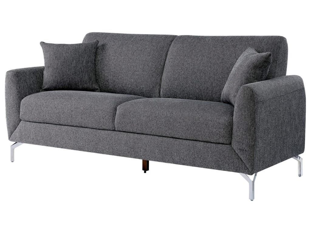 Lauritz Gray Sofa and Chair w/ Metal Legs Set