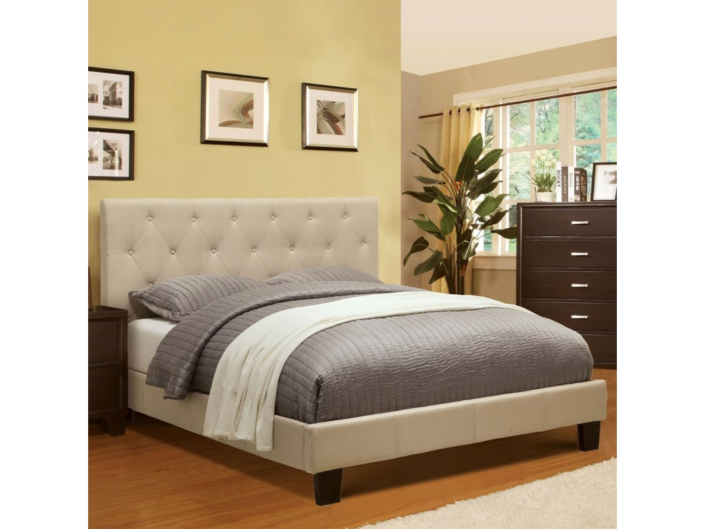 Furniture of America LeeroyFull Upholstered Platform Bed