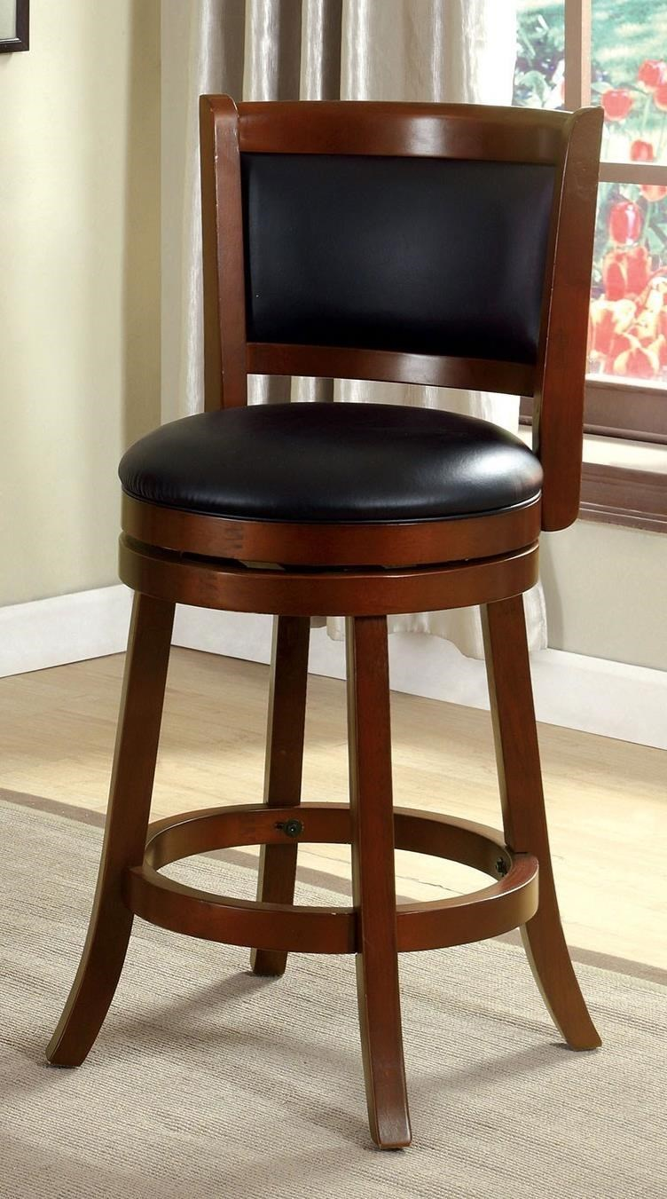Furniture Of America Letcher Transitional 24 Swivel Bar Stool
