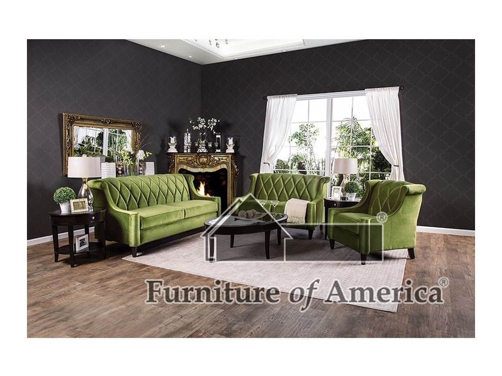 Furniture Of America Limerick Sm2881 Sf Sofa Corner Furniture Sofas