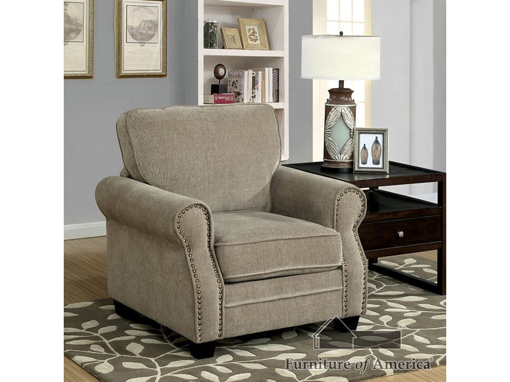 Furniture of America LynneSofa + Love Seat + Chair