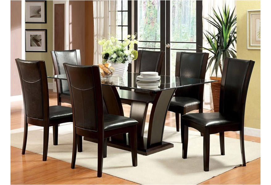 Furniture of America Manhattan I & II CM3710T-TABLE ...