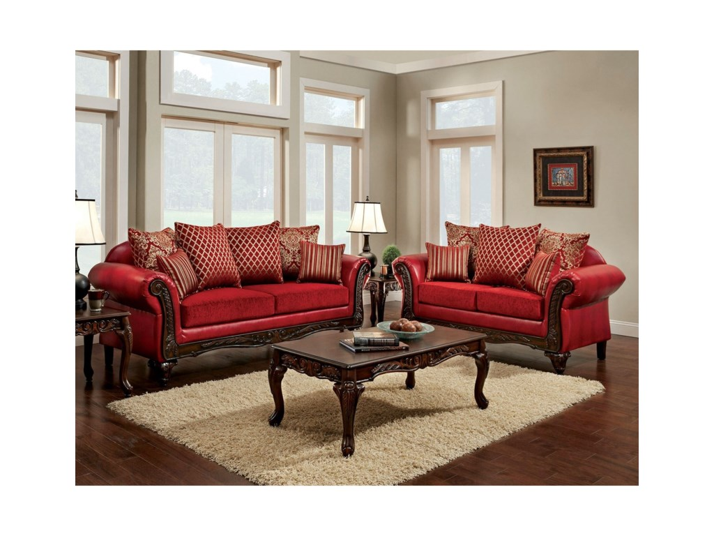Furniture of America MarcusSofa and Love Seat