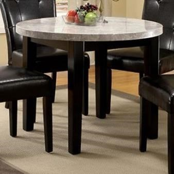 Furniture Of America Marion I Contemporary Round Dining Table With Marble  Top