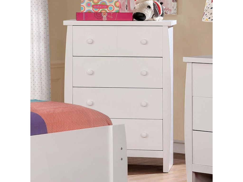 Marlee Contemporary Youth Bedroom 4 Drawer Chest by America at Del Sol  Furniture
