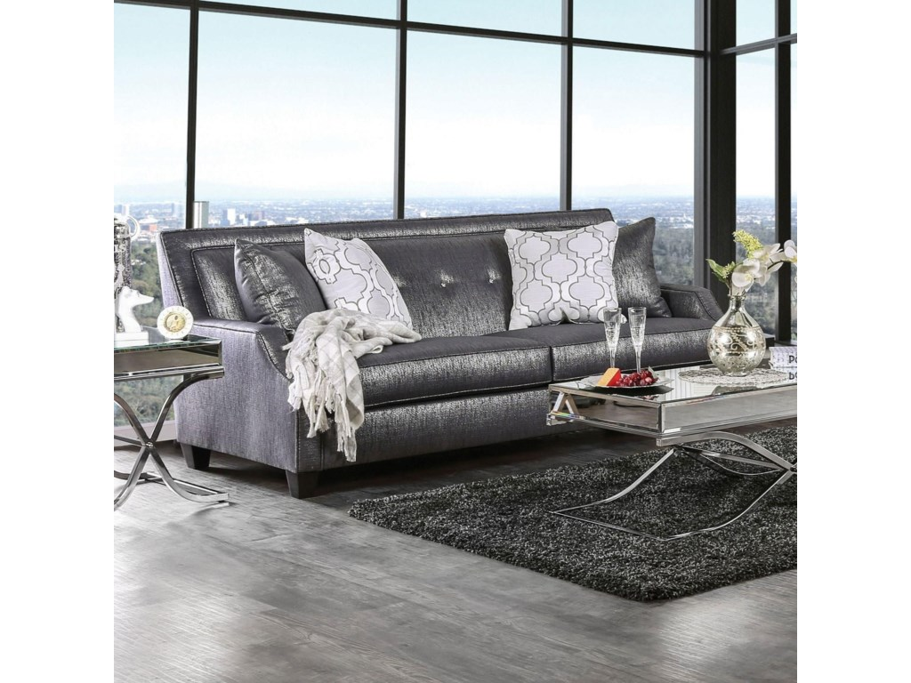Furniture of America Massimo  Sofa and Loveseat