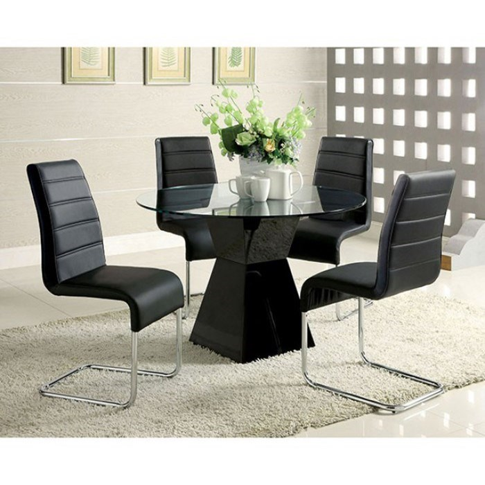Furniture Of America Mauna Contemporary 5 Piece Dining Set Rooms