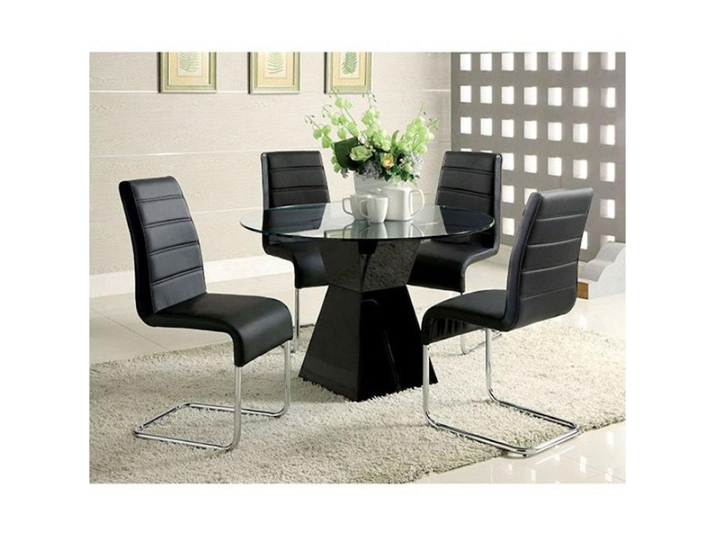 Furniture Of America Mauna Contemporary 5 Piece Dining Set Rooms