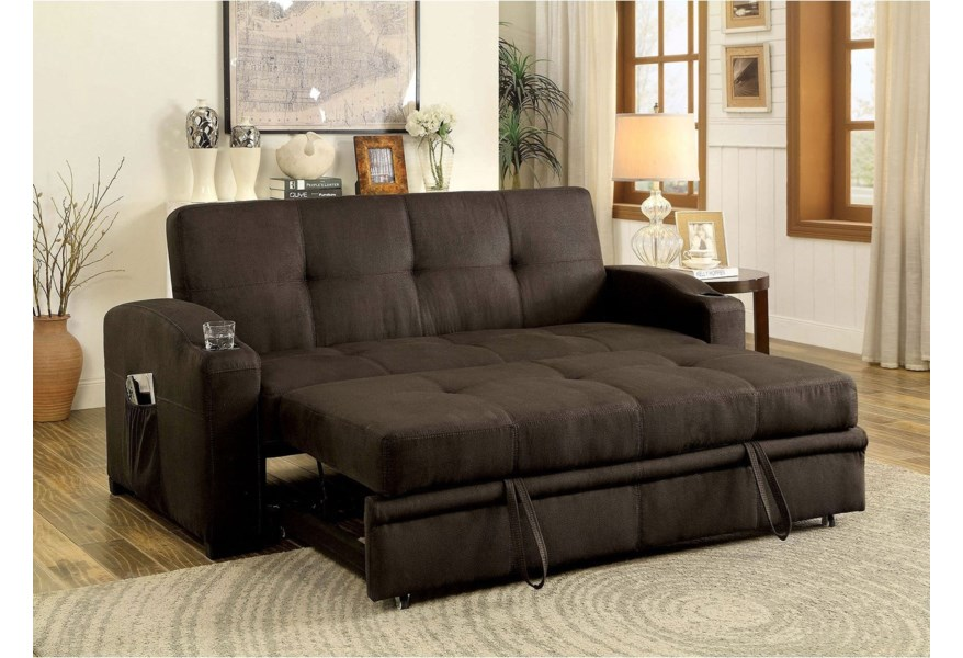 Furniture Of America Mavis Futon Sofa