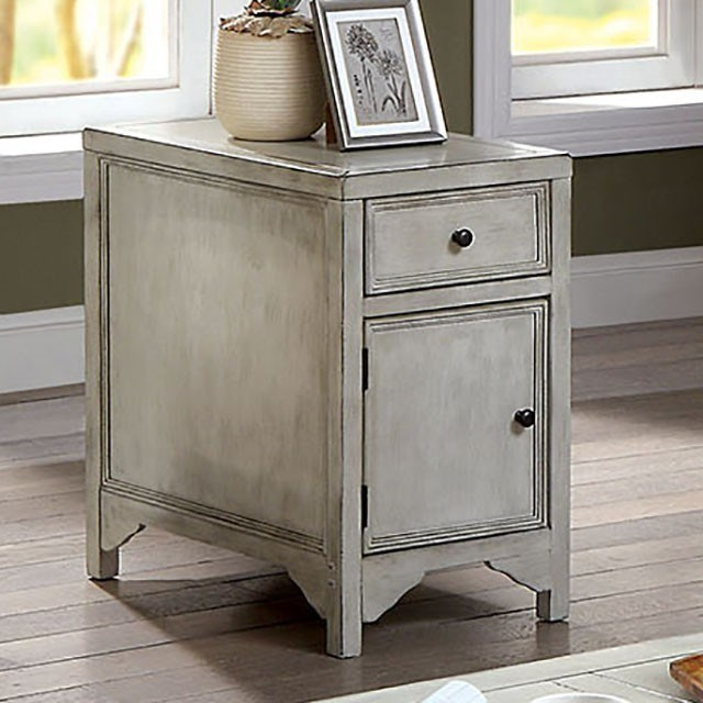 Meadow Transitional Side Table With Bottom Cabinet By Furniture Of America