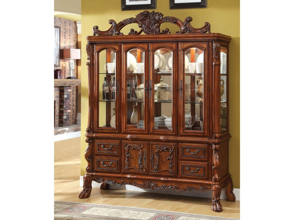 Furniture Of America Medieve Traditional Hutch And Buffet Set