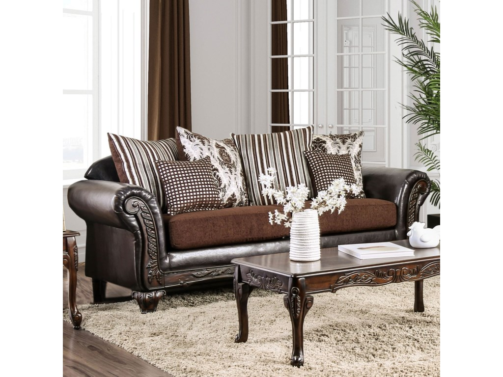 Midleton Traditional Sofa With Decorative Wood Trim By America At Del Sol Furniture