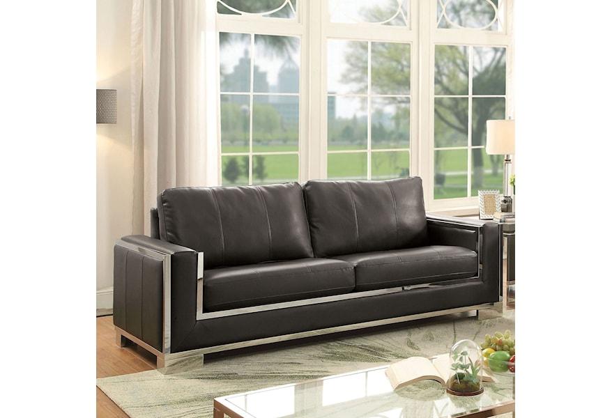 Monika Cm6423gy Sf Contemporary Sofa