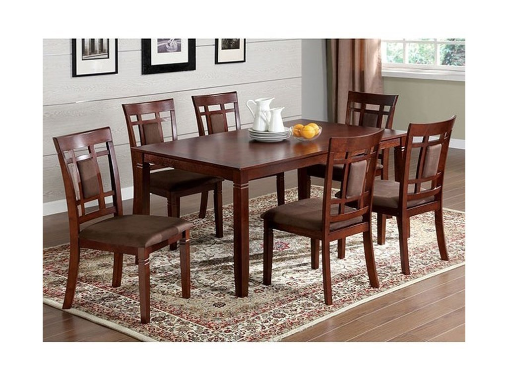 Furniture Of America Montclair I Cm3930t 7pk 7 Pc Dining Table Set