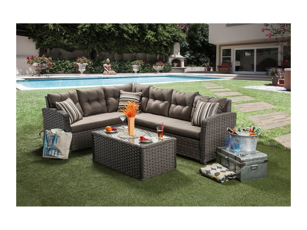 Furniture of America MouraPatio Sectional