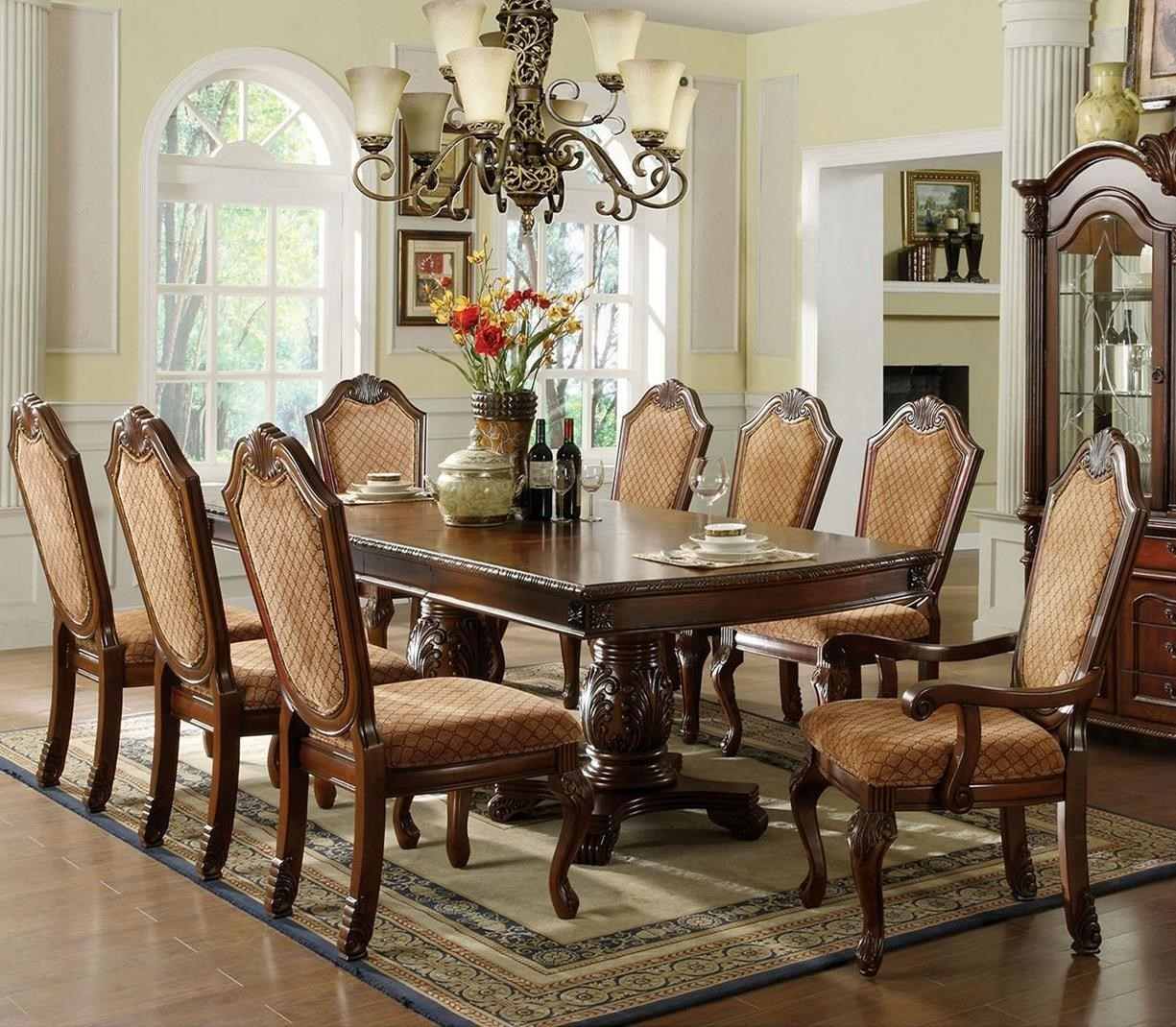 Attirant Furniture Of America Napa ValleyTable + 2 Arm Chairs + 6 Side Chairs ...