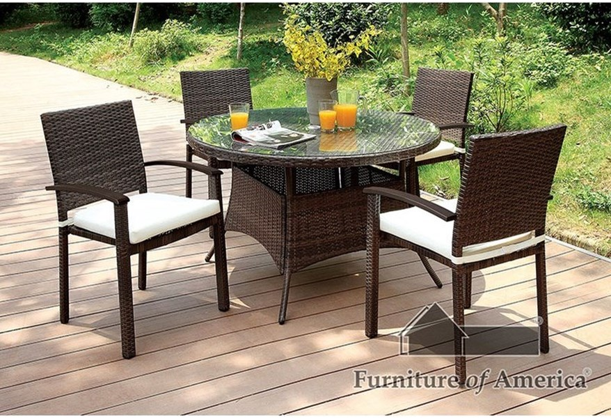 Shania Cm Ot1853 5pc Outdoor Dining Set