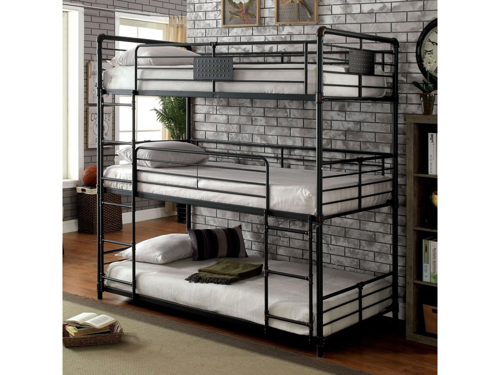 Furniture of America Olga ITwin/Twin/Twin Bunk Bed