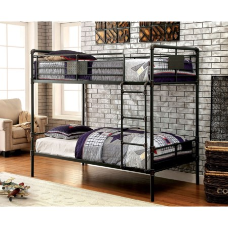 Metal Twin/Twin Bunk Bed