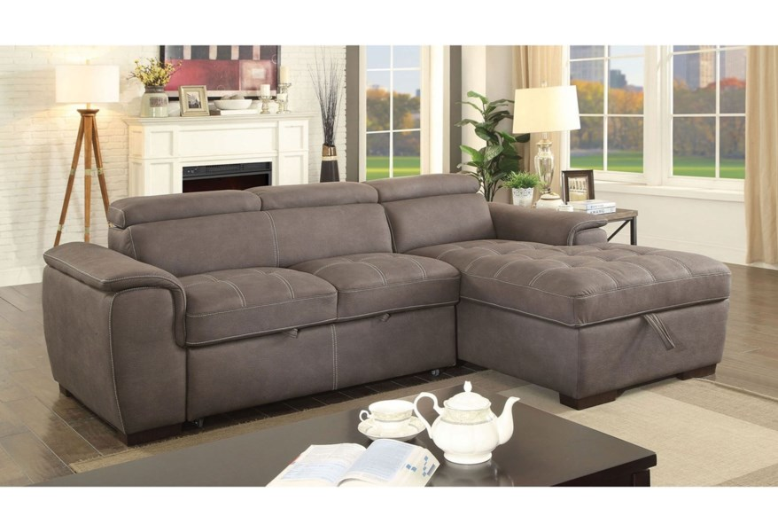 Foa Patty Cm6514br Sect Sofa Sectional