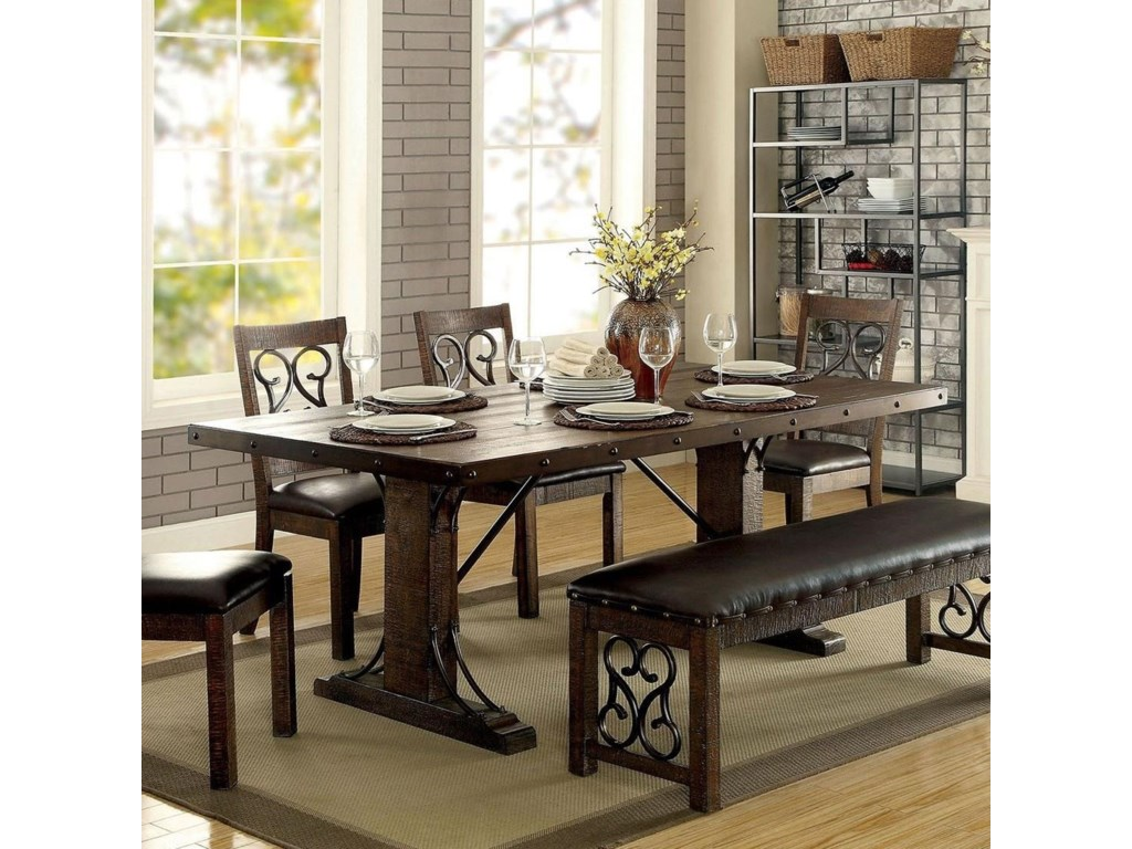 Paulina Dining Table with Metal Accents by Furniture of America at Rooms  for Less