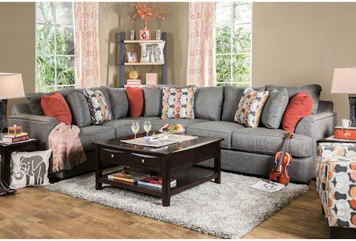 Furniture of America Pennington Sectional Sofa