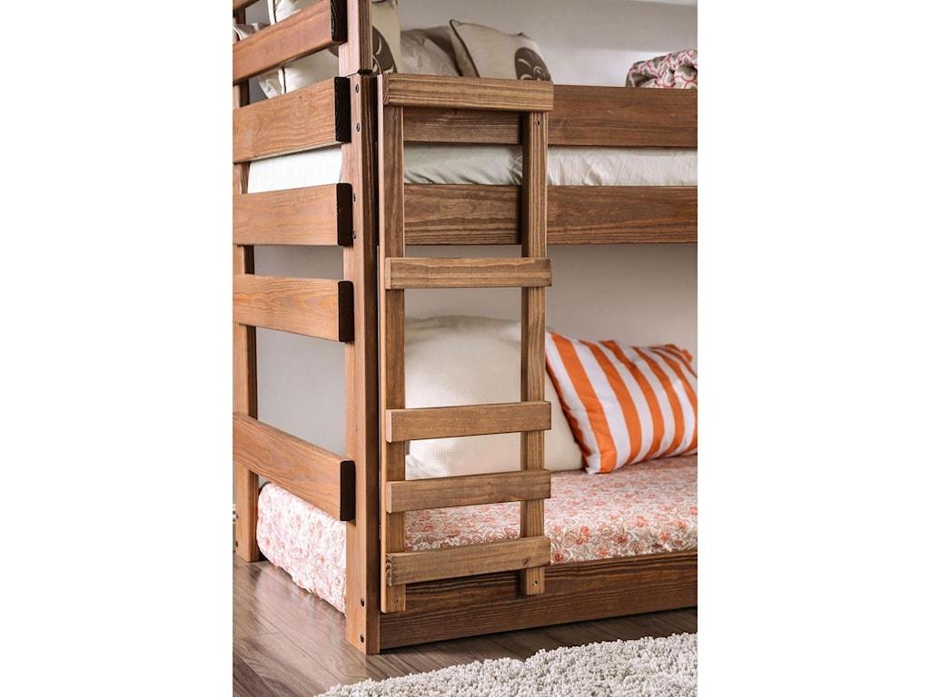Furniture of America PollyannaTwin Triple Decker Bed