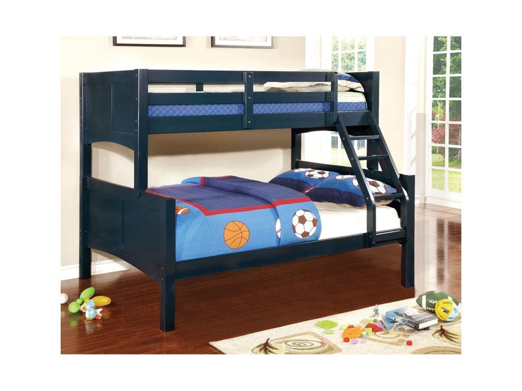 Furniture Of America Prismo Ii Twin Full Bunk Bed Rooms For Less