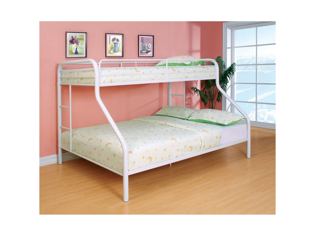 Rainbow Twin Over Queen Bunk Bed By Furniture Of America At Rooms For Less