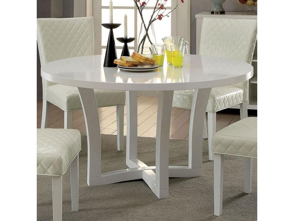 Reidar Contemporary Round Dining Table by Furniture of America at Furniture  Superstore - NM