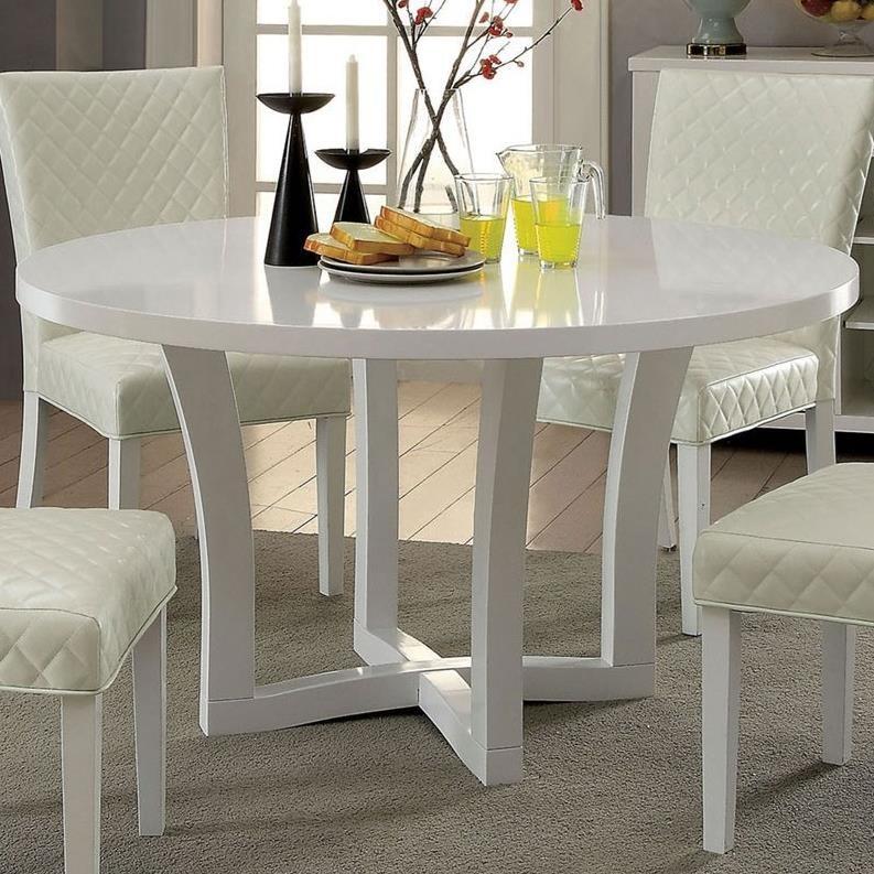 Furniture Of America Reidar Contemporary Round Dining Table