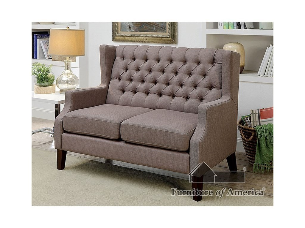 Furniture of America RobinLove Seat and Chair Set