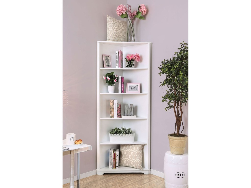 Rockwall Corner Bookshelf By Furniture Of America