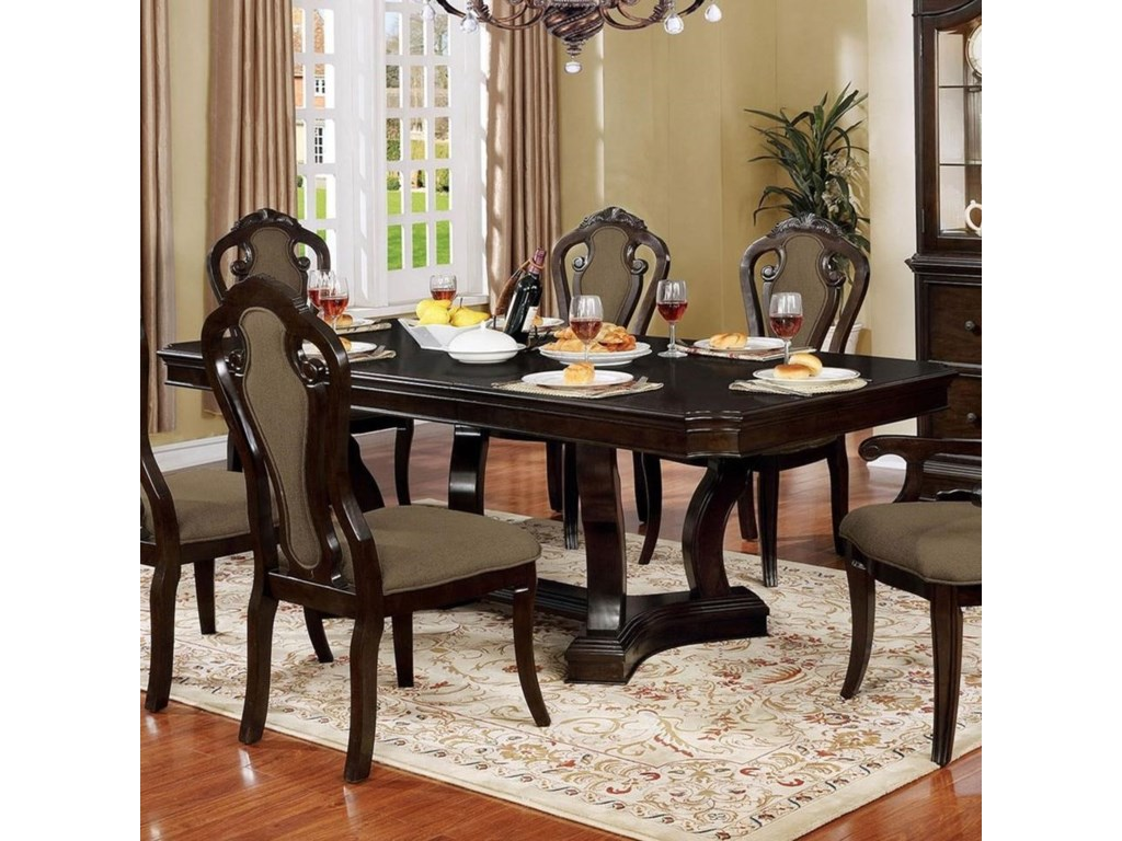 Rosalina Traditional Dining Table with 18\