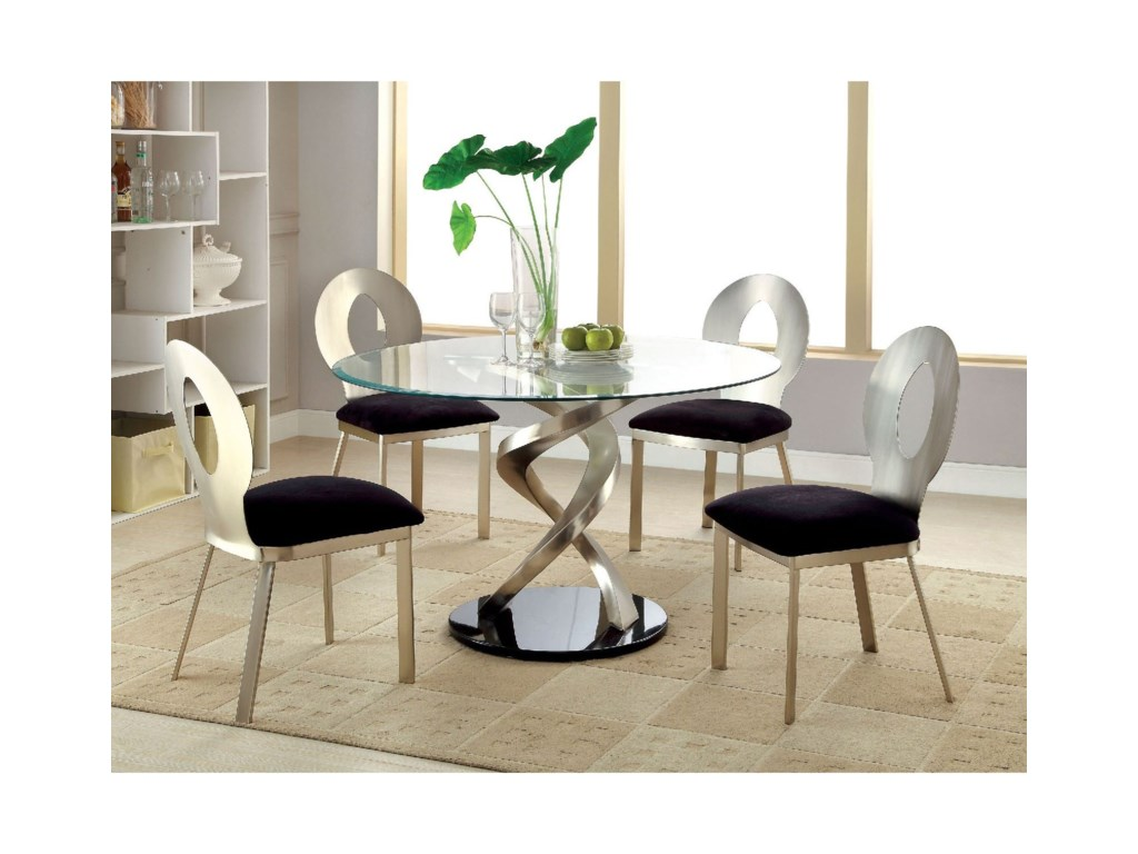Roxo Contemporary Round Dining Table by America at Del Sol Furniture