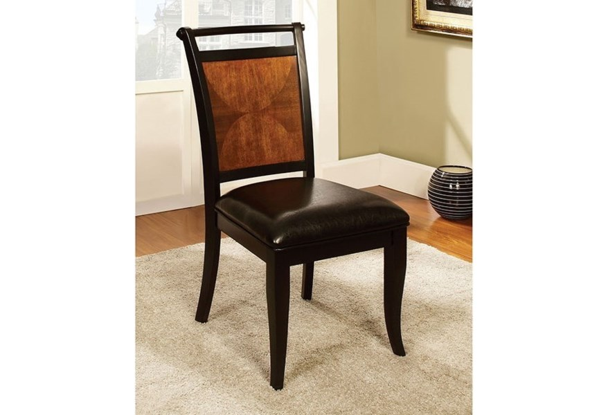 Salida I Set Of 2 Dining Side Chairs With Faux Leather Seats Household Furniture Dining Side Chairs