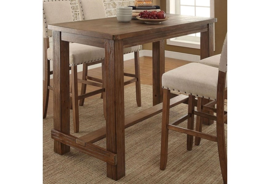 Furniture Of America Sania Cm3324bt Rustic Bar Height Table