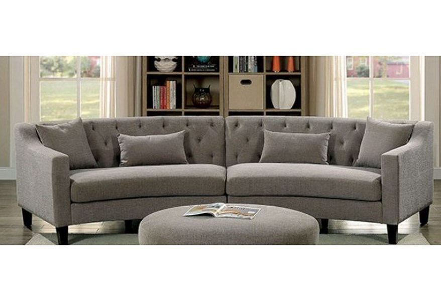 Furniture of America Sarin CM6370-SECTIONAL Contemporary ...